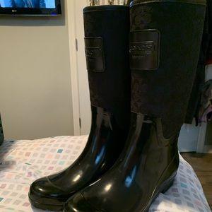 Coach New York Style Rain Boots